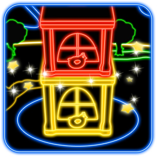 A Neon Tower Top  Building - Free Tiny Blocks Game
