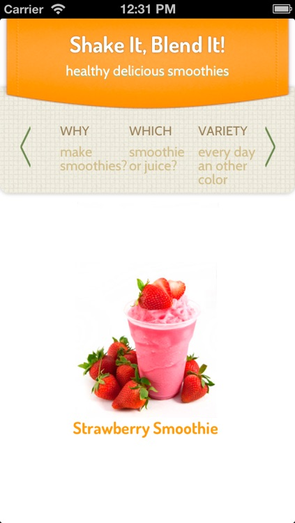 Smoothies, the Healthy Fruit Shakes