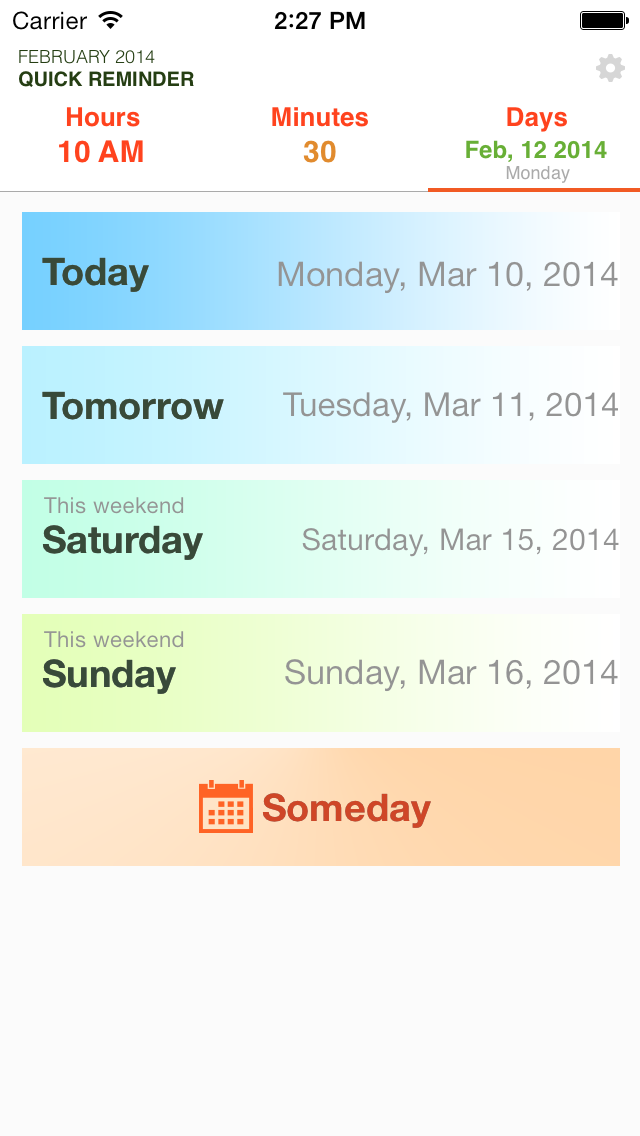 Quick Reminders: Super fast way to create a reminder screenshot one