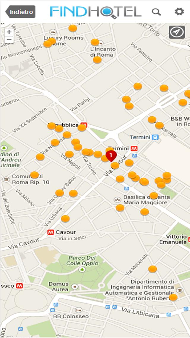 Screenshot of Ricerca Hotel - FindHotel è l'app che confronta i prezzi di alberghi e strutture in tutto il mondo: prenotazioni facili e veloci per soggiorni economici o di lusso, ostelli e B&B, per un weekend o per questa sera, grazie alle offerte last minute!5