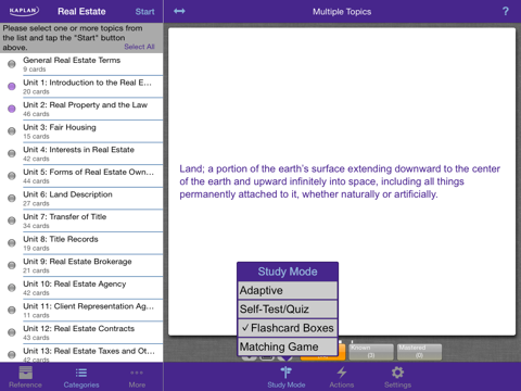 Kaplan Real Estate Terms Flashcards and Reference | App Price Drops
