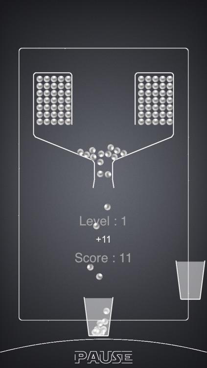 100 Falling Balls - Fill The Cups: mini arcade game edition screenshot-3
