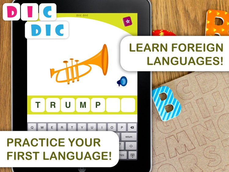 Dic-Dic. Multilingual dictation to practise spelling, writing and sound-letter matching