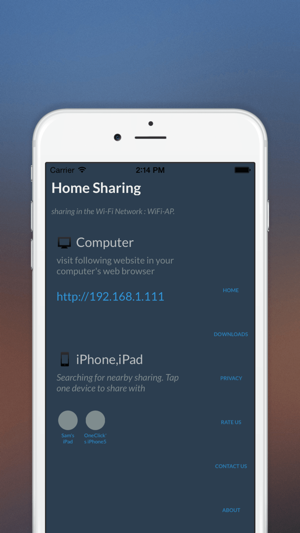 Home Sharing Transfer Photo Video And File More Easily In The Local Wi Fi Network