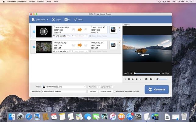 convertisseur mp4 en avi gratuit mac