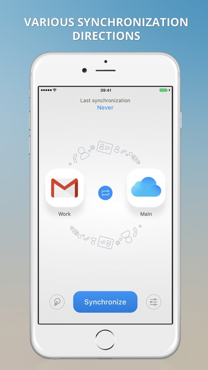1Sync: contacts sync for Gmail, iCloud, Outlook screenshot-0