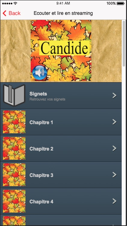 Candide (French), text + audio screenshot-2