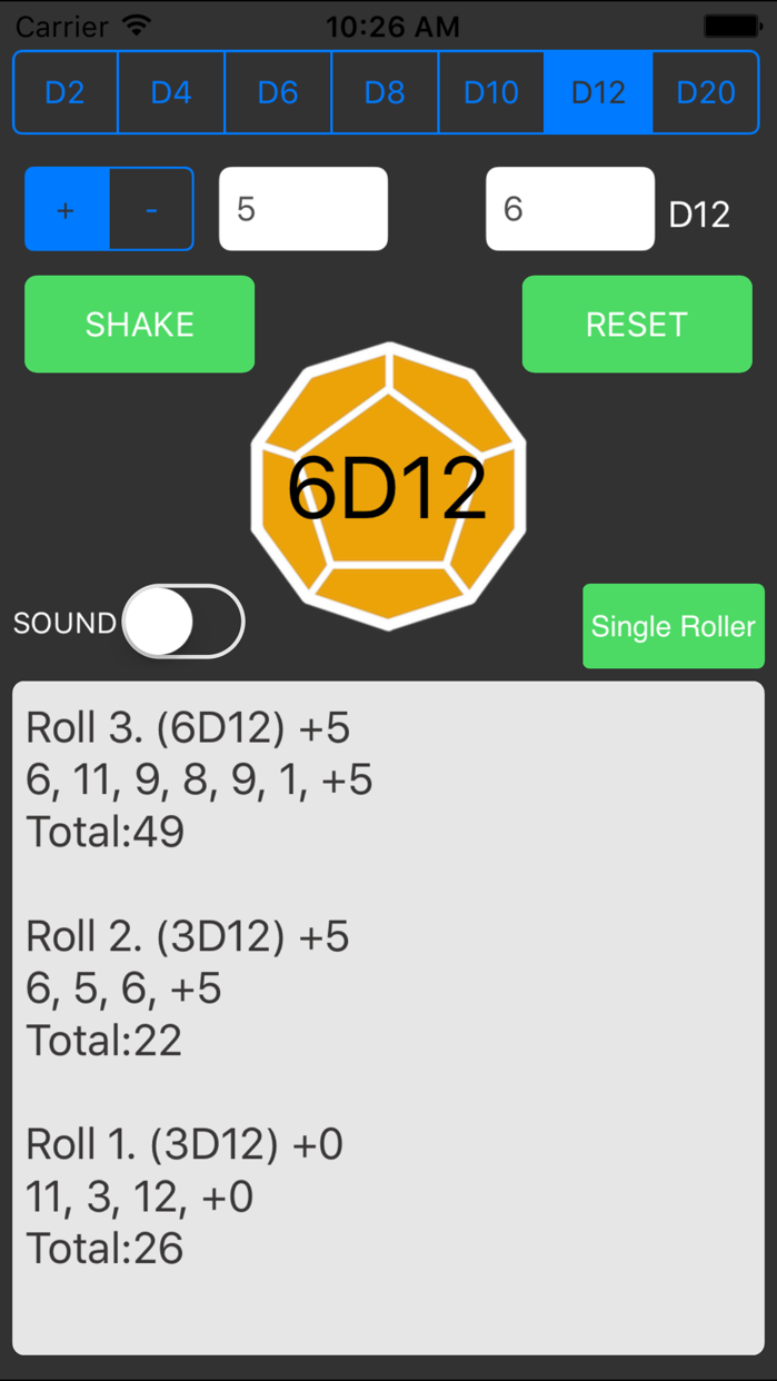 "Dice Roller For ""Dungeons & Dragons"" Screenshot"
