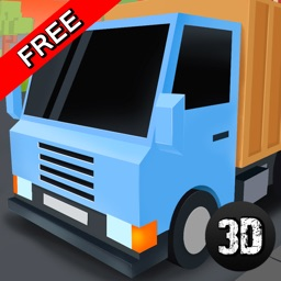 Pixel City Garbage Truck Driver 3D