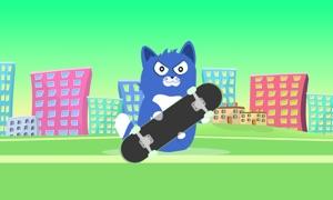 Little Kitty on a Skateboard TV