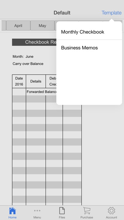 Monthly Check Register
