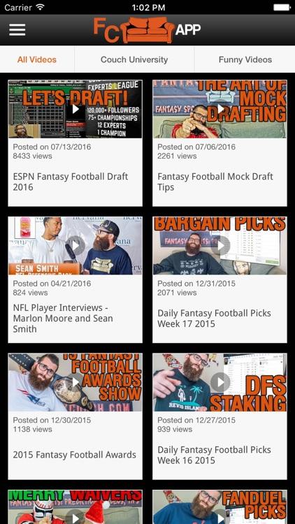 Fantasy Couch - Fantasy Football Fantasy Sports