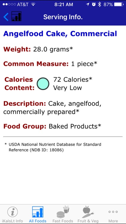 iKals Lite - iNutrient: Calories screenshot-3