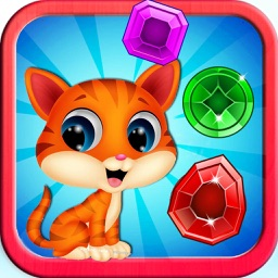 Pop Cat Bubble Angry Match 3: Jelly Birds Mania