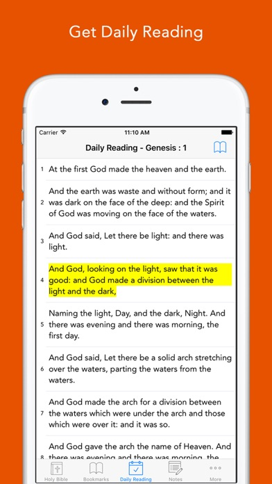 Daily Bible: Easy to read, Simple, offline, free Bible Book
