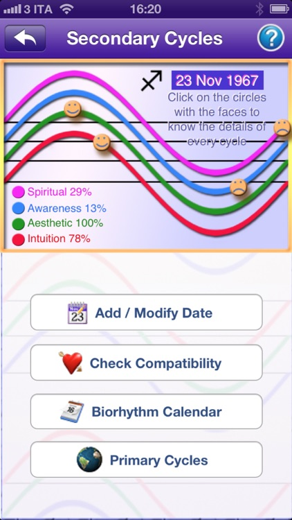 Biorhythm Pro - measure the rhythm of your life screenshot-1
