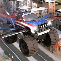 Flying Off Road Monster Truck the Moto Racer