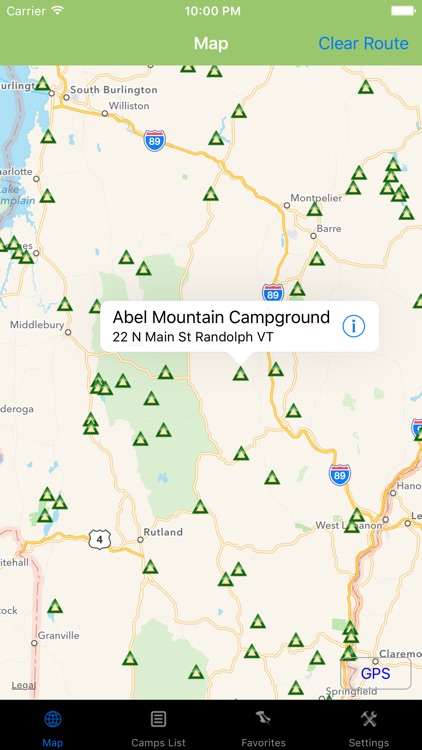 Vermont – Camping & RV spots