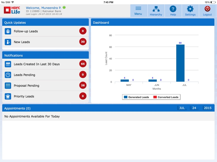 mobile sales diary by hdfc life insurance company limited