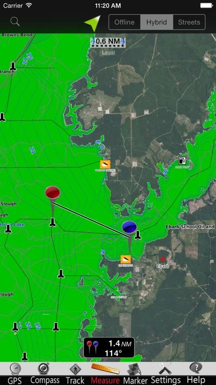 Toledo Bend GPS Nautical charts