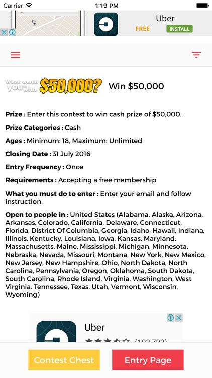 ContestChest com - Find contests and sweepstakes to enter by Evert Hoff