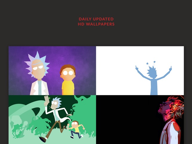 hd wallpapers rick and morty edition free filters on the app store