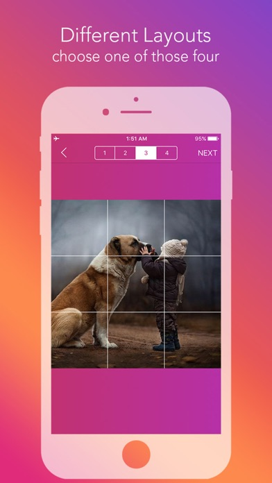 Griddy - Split Pic in Grids For Instagram Post by keang
