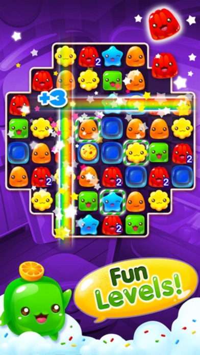 Jelly Blast - 3 match puzzle sweets crush game screenshot one