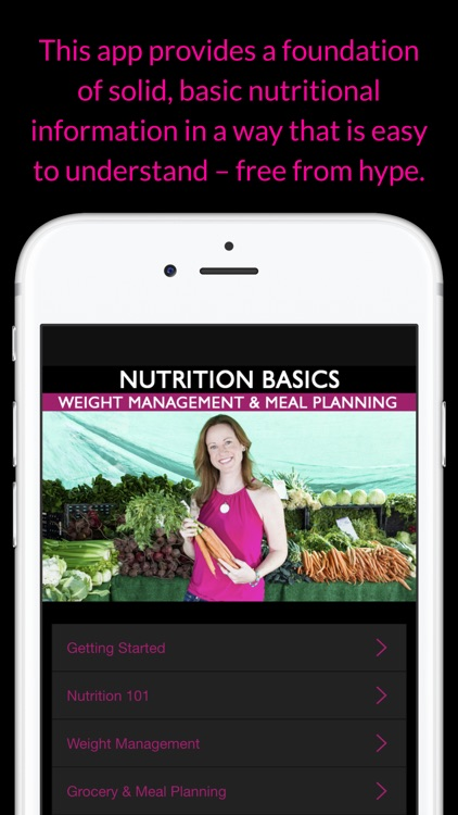 Nutrition Basics: Weight Management & Meal Planning