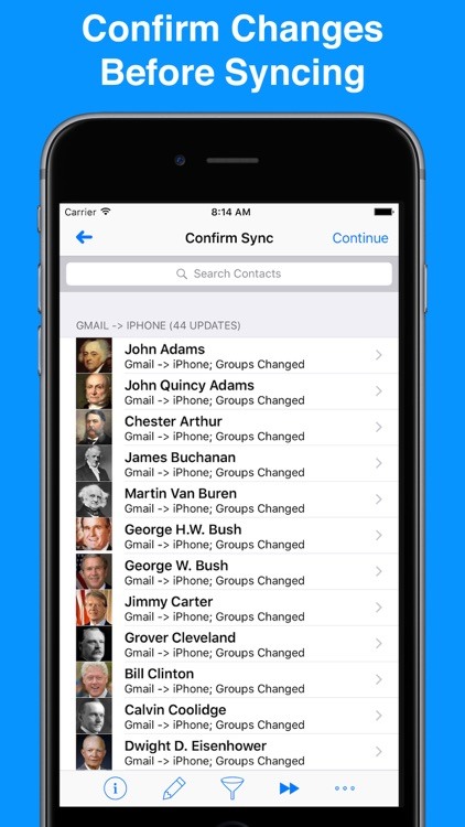 Contacts Sync for Google Gmail with Auto Sync app image