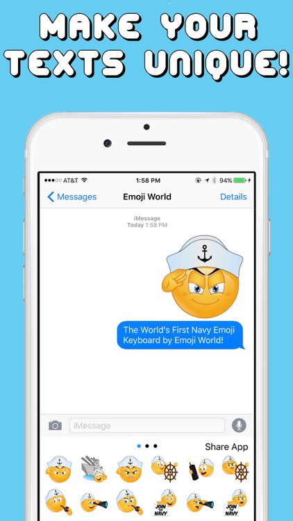 Navy Emojis Keyboard Memorial Day Edition by Emoji World screenshot-3
