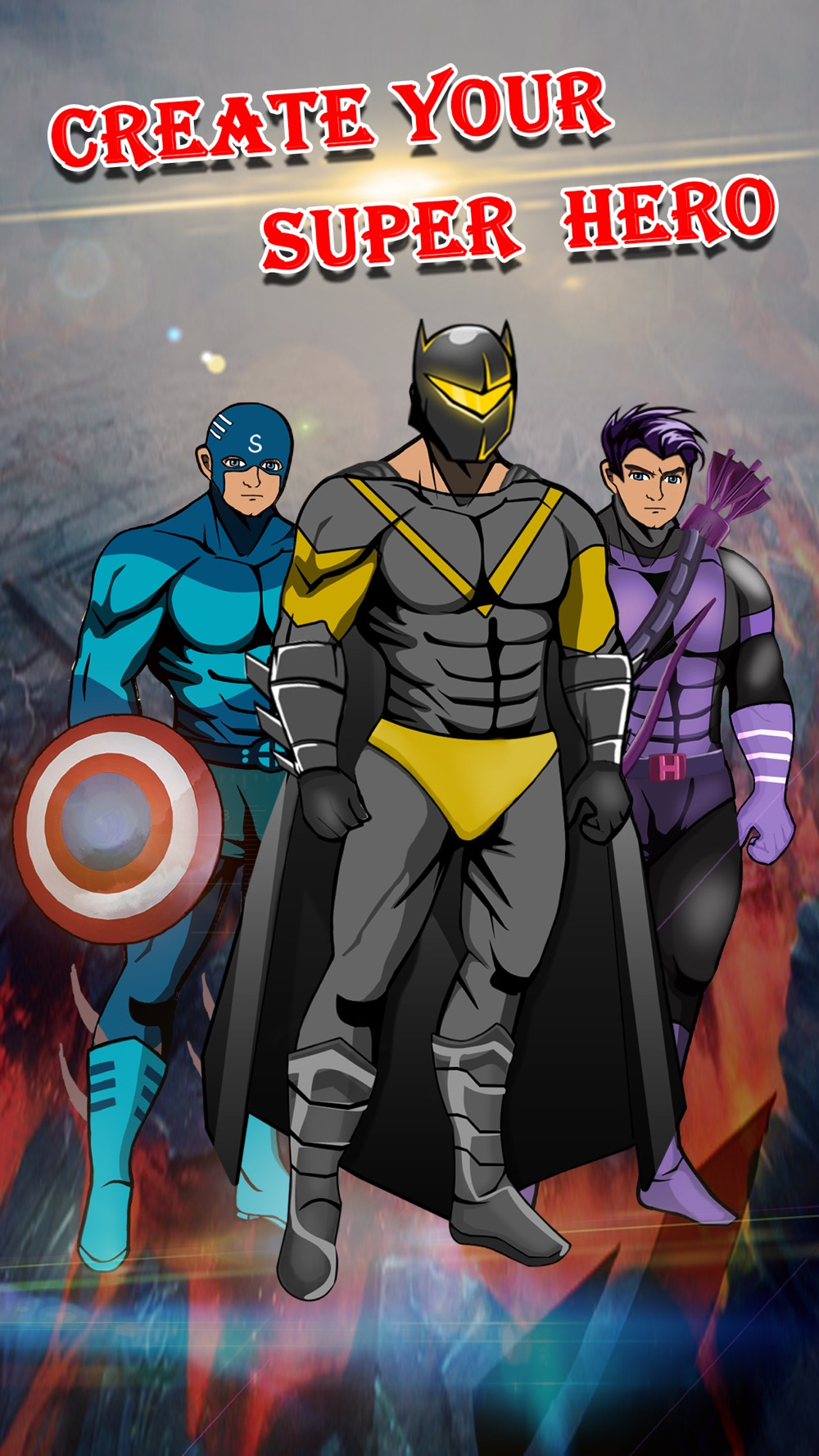 Create Your Own Man SuperHero – Comics Book Character Dress Up Game for Kids & Boys