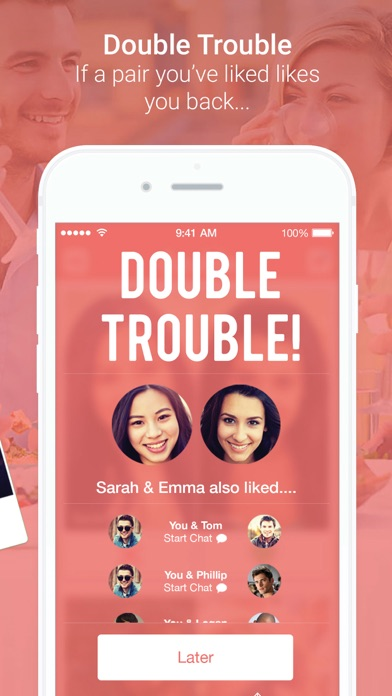 double up dating app The dubl'up app provides you with amazing buy one get one free offers at restaurants, salons, spas, hotels, gyms and much more spend less & save more all year long available on android & ios download now and get your first free offer.