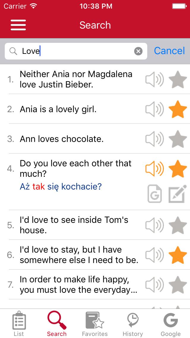 English - Polish Common Phrases screenshot three