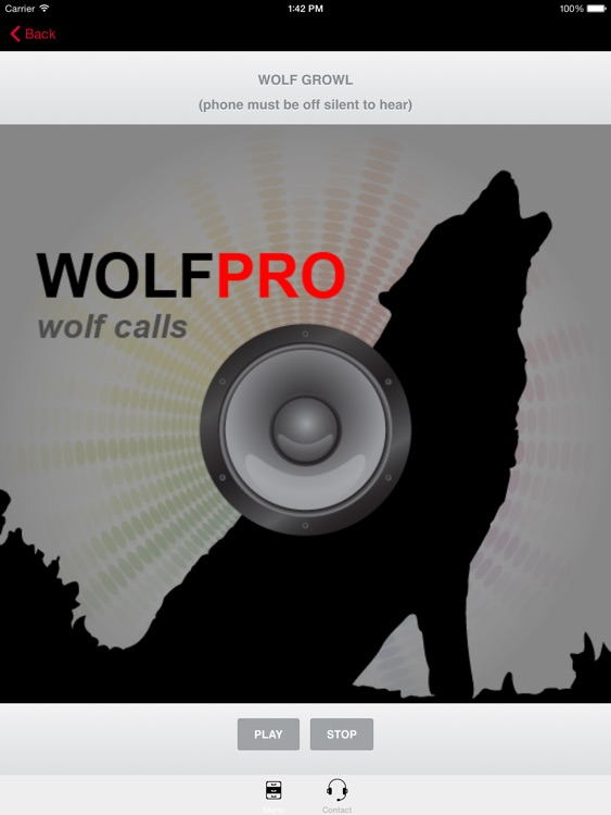 REAL Wolf Calls and Wolf Sounds for Wolf Hunting -- (ad free) BLUETOOTH COMPATIBLE screenshot-0