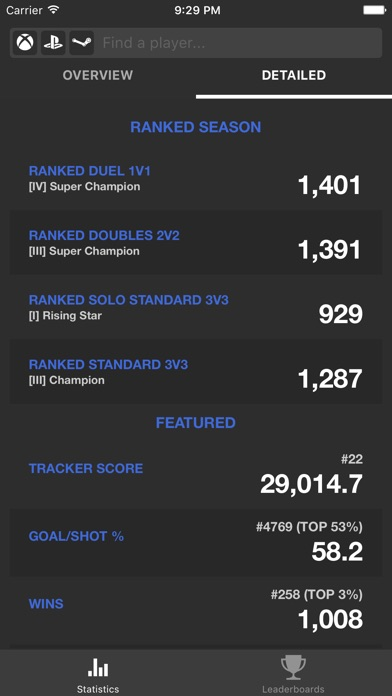 TRN Stats for Rocket League app image