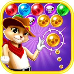 Rescue Witch Kitty Cat Pop - World Bubble Shooter Puzzle