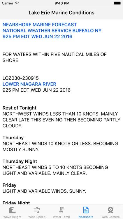 Lake Erie - Marine Conditions screenshot-3