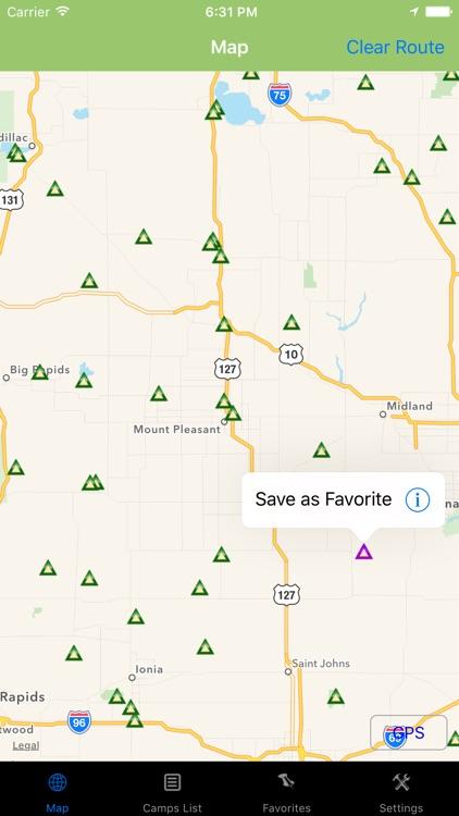 Michigan – Camping & RV spots