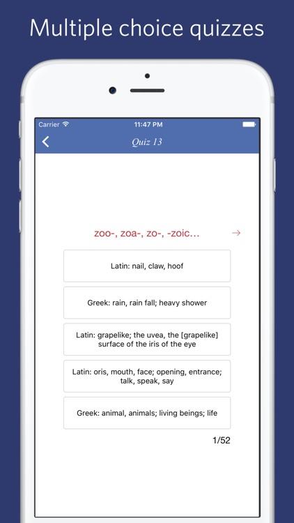 Biology: Roots, Prefixes and Suffixes screenshot-4