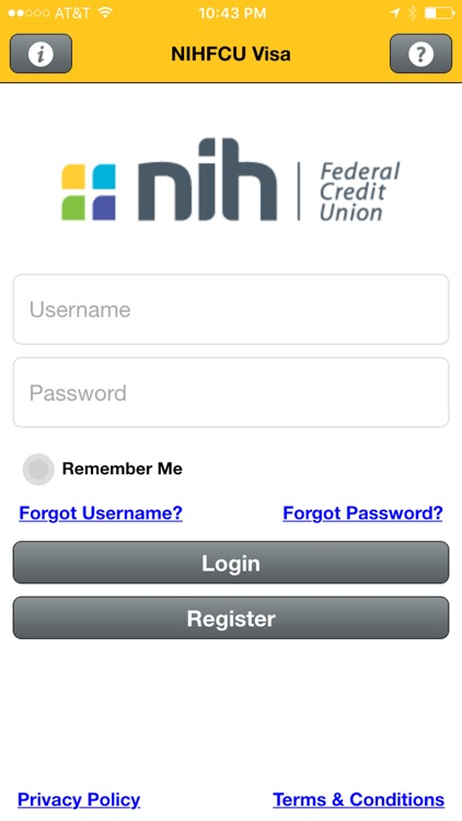 NIHFCU Visa Credit Card