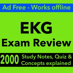 EKG Exam Review : 2000 Terms & Quizzes
