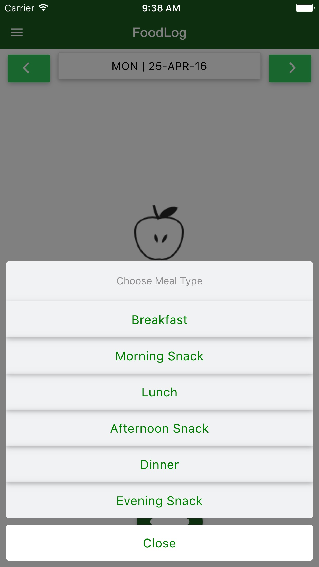 CaloRatio - Measure the Quality of Your Diet Screenshot