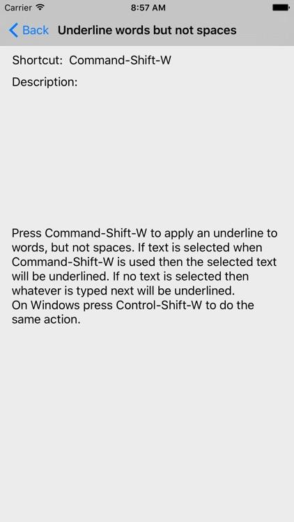 Shortcut: Word Edition