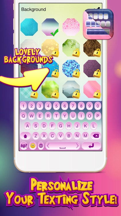 Love My Keyboard Colorful Girly Themes With Flirty Symbols And Cute