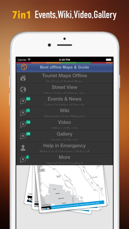 Monterey Tour Guide: Best Offline Maps with StreetView and Emergency Help Info