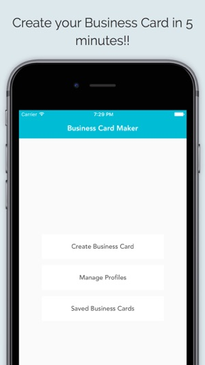 Business card maker app on the app store iphone screenshots reheart Images