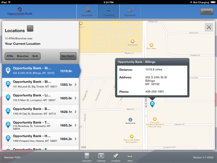 Opportunity Bank of Montana for iPad screenshot-3