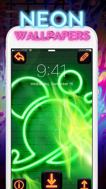 Cool Neon Wallpapers – Glowing and Sparkling Background.s for Retina Home Screen Free screenshot-3