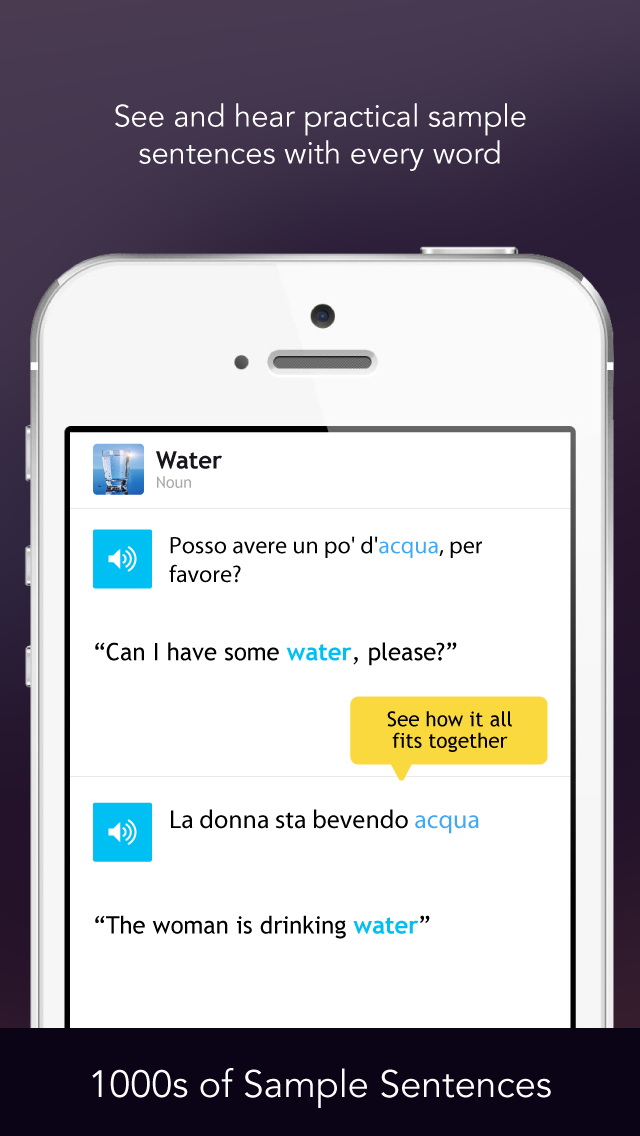 Learn Italian - Free WordPower screenshot four